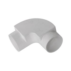联塑 管有盖弯头PVC电工套管配件白色 φ25