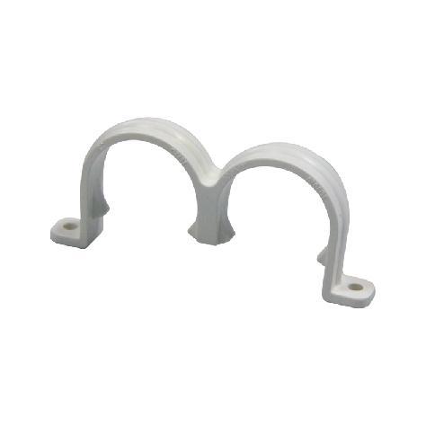 联塑 双U管夹PVC电工套管配件白色 φ25
