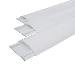 联塑 PVC圆弧形地板线槽白色 50*11 2M