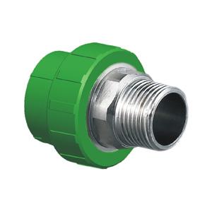 """联塑 外螺纹直接头Ⅱ型(精品家装管PP-R配件)绿色 dn50×1-1/2""""(LS)"""