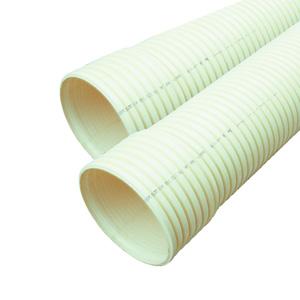 联塑 地下通信管道用PVC-U双壁波纹管米黄色 SN6.3 160 6M