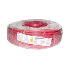 广东电缆 铜芯双塑线 BVV 16平方 红 100M