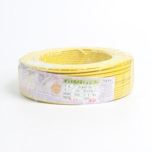 广东电缆 铜芯单塑多股线 BVR 2.5平方 黄 100M