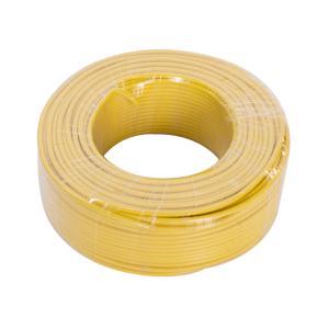 恒飞 铜芯单塑单股线 BV 10平方 黄色 100M