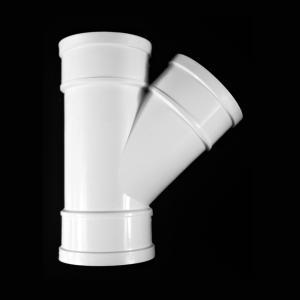 优质PVC排水异径斜三通dn110*50白色