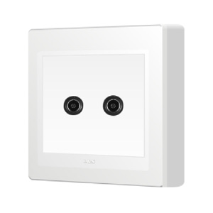 86型明装墙壁开关插座面板双电视插座面板有线电视tv闭路明线盒