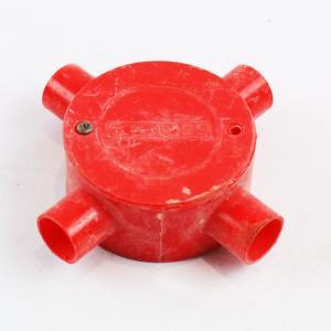 优质标准司令箱四通dn20红