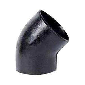 普通 W型铸铁排水45°弯头 100