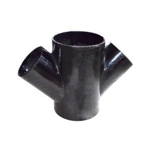 普通 W型铸铁排水斜四通 150