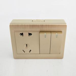 联塑电气 LM明装 二位双控五孔插座 JLM/10USK2/2 拉丝金