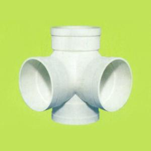 PVC給排水直角立體三通 四通接頭1.5寸 50MM