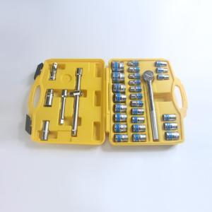 華豐巨箭32件套筒組套汽修套筒機修扳手組合套裝大飛套筒工具箱