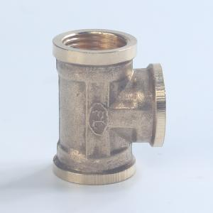 4铜三通弯头对丝水管接头管古四通铜接头