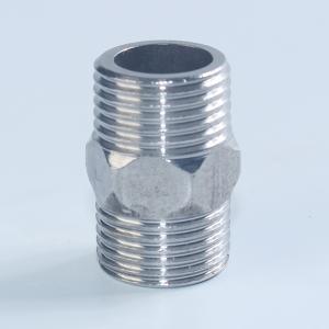 304不锈钢双内丝内螺纹管子通丝直通水管内接头光内丝4 6分 DN15