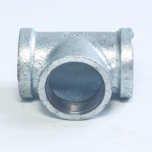 镀锌三通 玛钢管件正三通4分6分1寸铸铁三通
