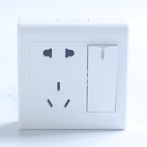 施耐德電氣 一位單開單聯雙控 電源插座開關面板16A 繹尚鏡瓷白
