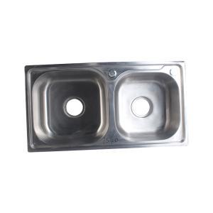 宁博 不锈钢水槽(双槽) 1.1mm 7238