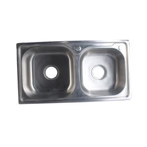 宁博 不锈钢水槽(双槽) 1.3mm 7843