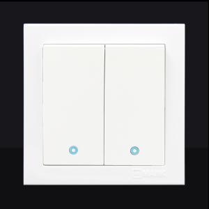 曼科開關無框超大板拉扣 五孔插座 超薄開光電源插座墻壁面板套裝