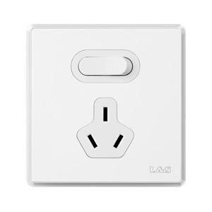 联塑开关插座面板家用二三孔五孔工程单双控墙壁电源插座通用86型