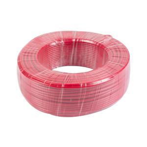 鸿基 铝芯双塑单股线 BLVV 6平方 红 100M