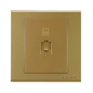 三雄极光 一位八芯电脑插座(六类) (K6N1/6)玫瑰金(RR)