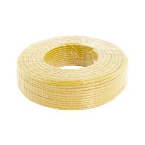 鸿基 铝芯双塑单股线 BLVV 6平方 黄 100M