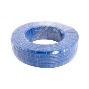 鸿基 铝芯双塑单股线 BLVV 6平方 蓝 100M
