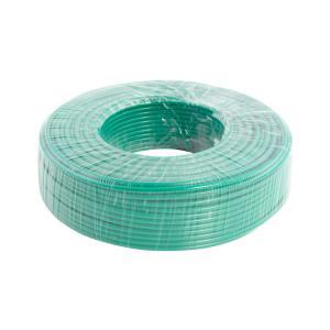 鸿基 铝芯双塑单股线 BLVV 6平方 绿 100M
