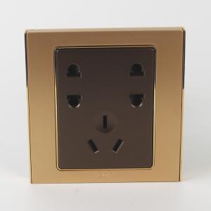 联塑电气 单相双二.单三极插座(香槟金、金色、咖啡色) L51/U2S+112