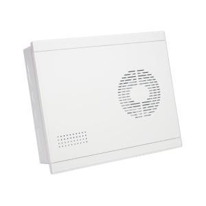展业 多媒体信息箱(中号) D004 塑面铁底 全空箱(带模块支架)