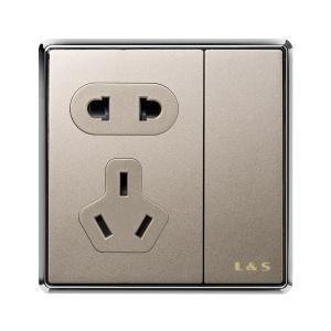 公牛裝飾開關二位單級電源插座雙聯開關面板雙開雙控G18大板白
