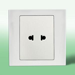 联塑电气 LV 单联二极扁圆两用插座 LVU