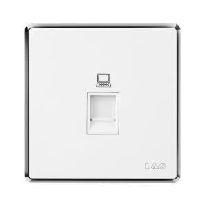 聯塑電氣 品尚(銀) 一位電腦插座