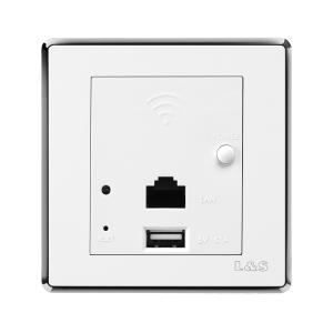 联塑电气 品尚(银框) wifi无线路由器USB充电插座 PSYV3