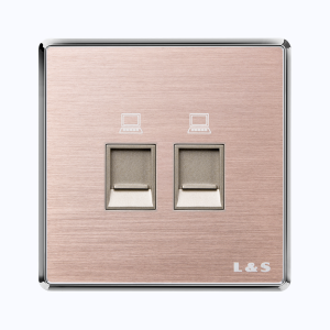 联塑电气 品逸 二位信息插座 PYN02