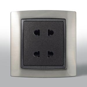 联塑电气 双联二极扁圆两用插座(L80) L80U2