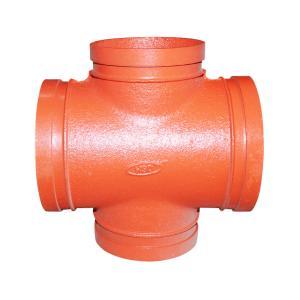 优质 沟槽异径四通 DN140*76