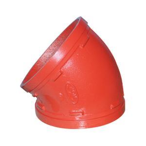 优质 沟槽45°弯头 DN76