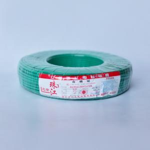 立信珠江 铜芯单塑多股线 BVR 6平方 绿 100M