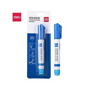 得力 笔形液体胶 6355 蓝色 (10ml/卡)