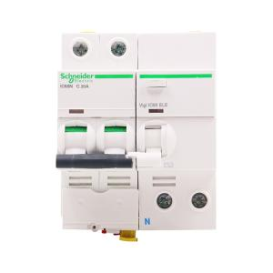 施耐德 漏电断路器 IC65N 2P 20A C型