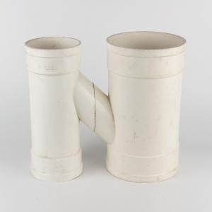 雄塑 PVC排水H型管 dn160*75*110 白色