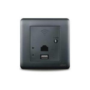 联塑电气 卓壹 WIFI无线路由器USB充电插座 Y3V3 黑色