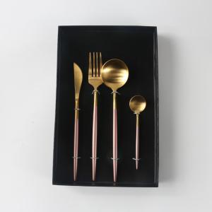 優質 噴漆金色葡萄牙四件套餐具 XDX2026