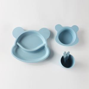 優質 竹纖維素色米奇頭兒童餐具5件套 LKT009 藍色