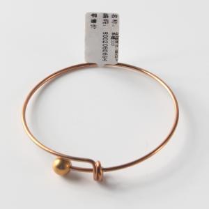 优质 3圈扭珠手镯 003 玫瑰金色