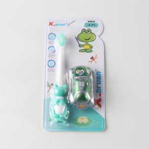 優質 兒童牙刷 X8333 青蛙形狀+汽車玩具