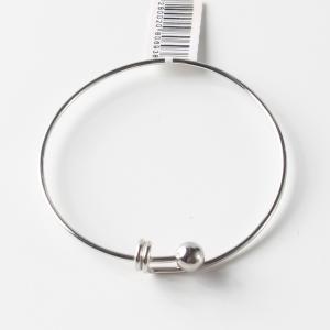 优质 钢色3圈扭珠手镯 003