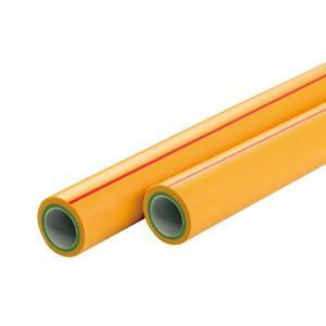 联塑 纳米系列抗菌冷热水用PP-R管S2.5(2.5MPa)外黄中绿内白25 2.6M